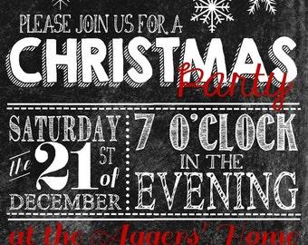 5 x 7 inch Christmas Party Invitation Printable