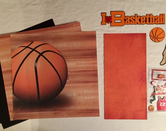 I Love Basketball Scrapbooking Kit