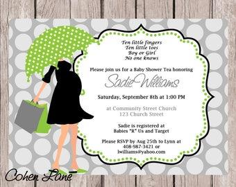 Baby Shower Invite Mod Mom Invite Umbrella Invitation Umbrella Shower Invite Pregnant Mom Invite Digital Invitation Gender Neutral Invite