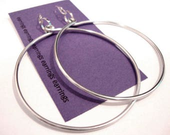 Plain Jane Big Hoop Silver Earrings