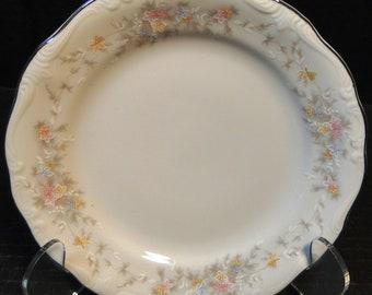 "Johann Haviland Floral Splendor Bavaria Bread Plate 6"" EXCELLENT!"