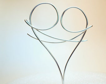 Lovers Wire Wedding Cake Topper