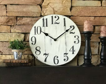 18 inch Antique Clock, Wall Clock, Home Decor, Vintage Clock