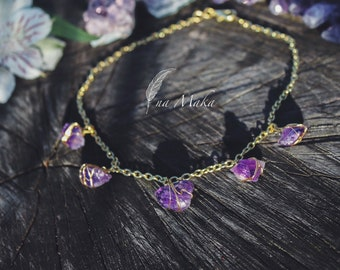 Amethyst Chocker- Meditation and Protection
