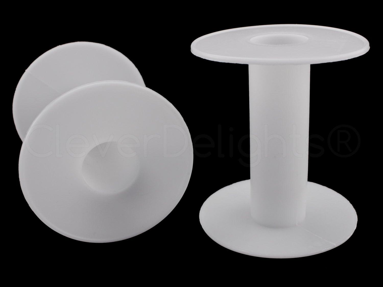 3 Pk 3 weißen Kunststoff Spulen große leere Spulen