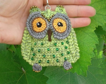 Crochet owl,keychain owl,knit owl, amigurumi owl, owl keychain, owl softies, owl toy, owl gifts, owl ragdoll, keychain for bag, handmade owl