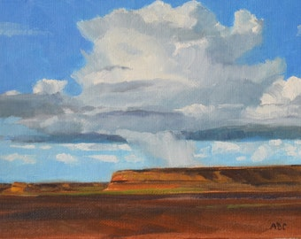 New Mexico landscape original oil painting western art impressionism realism southwest art