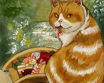 Sushi Cat Misty pont impression 8,5 x 11