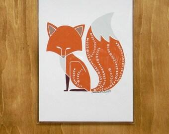 Foxy Fox - 5x7 print