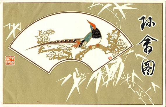 Asian Parrot and Cockatoo Paper Cut Art in Folder