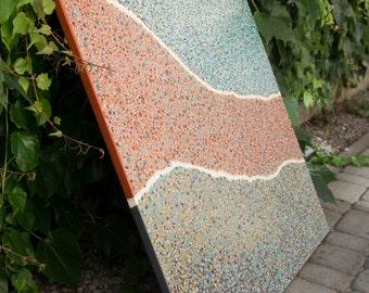Abstract acrylic dots 70 x 70 cm