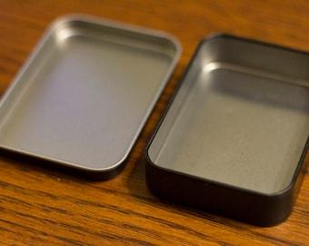 Laserable Black Tin Box