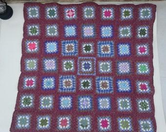 Hand crocheted blanket / knee rug