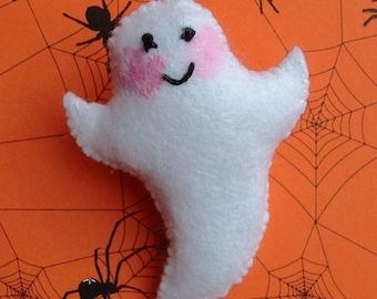 Ghastly the Ghost Felt Pin Brooch
