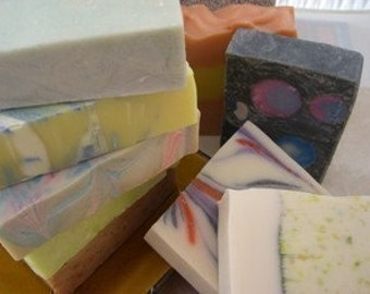 Handmade Soap Set of 5  Bar Soaps