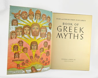 D'aulaires' book of Greek Byths 1962 No Dust Jacket