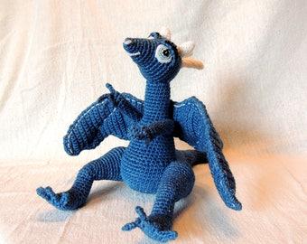 Dragon, fantasy creature, handmade amigurumi crochet stuffed animal, toy, doll, baby shower gift, new mother gift