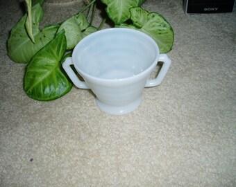 Vintage Milchglas Milch Zuckerdose
