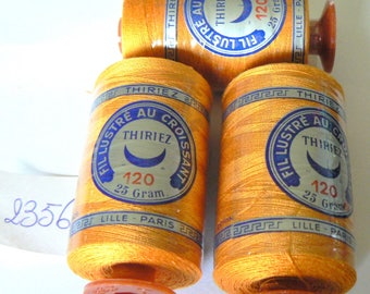 Reel 2356 50's yellow-orange vintage Thiriez No. 120 color chart