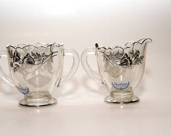 Silver City Glass Creamer and Sugar