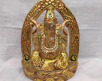 Crystal Quartz Ganesha - Ganesh statue - Ganpati statue -Hindu God Figurine-Hindu God Ganesha-Hindu Diety-Hindu God idols-Hindu God Figurine