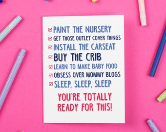 Baby Checklist Card, New Baby, Baby