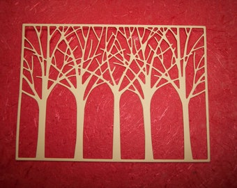 Forest Die Cut Card Fronts set of 3