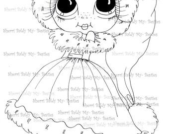 INSTANT DOWNLOAD Digital Digi Stamps Big Eye Big Head Dolls Digi Img008 By Sherri Baldy