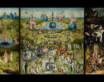 The Garden of Earthly Delights - (Artist: Hieronymus Bosch c. 1480) - Masterpiece Classic (Art Print - Multiple Sizes Available)