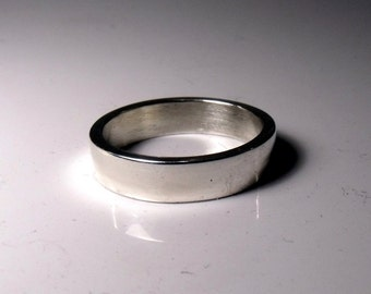 4mm Flat sterling Silver Band RF288