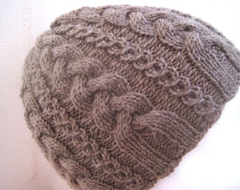Cosy Cable Hat knitting pattern - Kids & Adult - Instant Download PDF