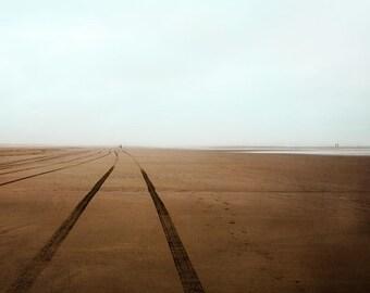 Blue Sand Beach Photograph--Beach Horizon--Fine Art