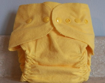 Fitted Preemie Newborn Cloth Diaper- 4 to 9 pounds- Canary Yellow- 16039