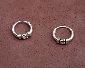 1,5X10 mm Sterling Silver Hoop Earrings - Silver Hoop Earrings - Tiny Hoop Earrings - Hoop Earrings,Small Hoop Earring,Silver Hoop Tiny,028H