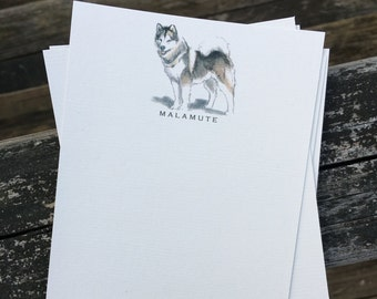 Malamute Dog Note Card Set