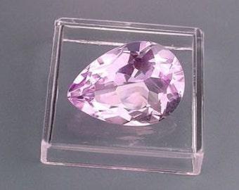 18x13 pear natural amethyst gem stone gemstone faceted
