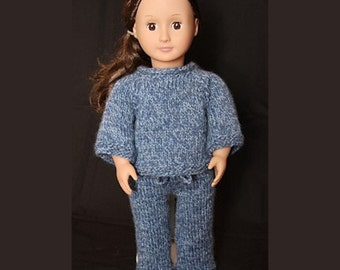 Sweater and Pants Set (knitting pattern) for 18 inch Doll