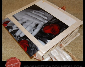 Wedding Guest Book Alternative ...XL Handmade Wedding Photo Guest Book... Handfasting Book... CHOOSE your own colors