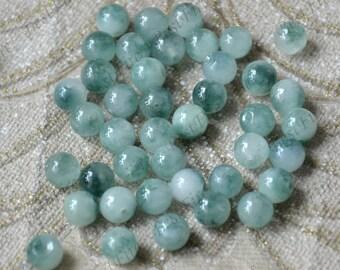 30beads 8mm Jade round stone beads Gemstone,Jade loose beads,Jade gemstone bead loose beads