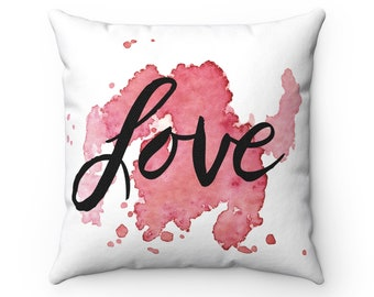 LOVE Inspirational Square Pillow