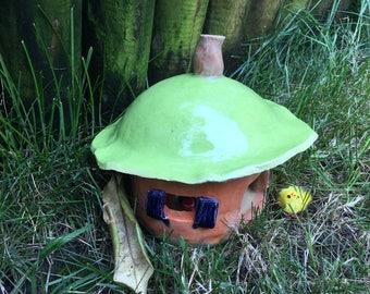 Ceramic Fairy House / Garden Ornament / Fairy House / Chicken House / Patio Ornament