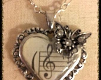 Heart Song Necklace and Earring Set
