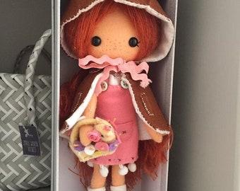 Woodland felt doll