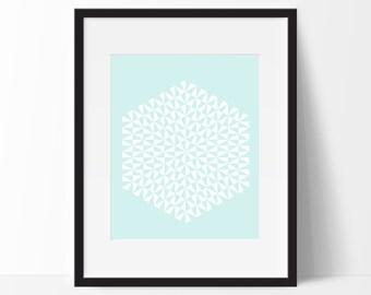 Geometric Print Art, Geometric Art, Geometric Printable, Digital Art Print, Geometric Print, Instant Download, Modern, Blue Green