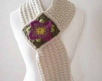 Crochet Pattern, Rock Cress Scarf, Women, Teen, Cowl, Vintage, Boho