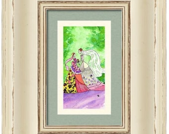 Jewish gift 'Mother of the Bride' Art ORIGINAL wedding Judaica wall art