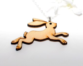 Rabbit Necklace Jack- Bunny Necklace- Bunny Rabbit Jewelry- Easter Gift- Bunny Jewelry- Woodland Animal- Nature Lover Gift- Rabbit Lover