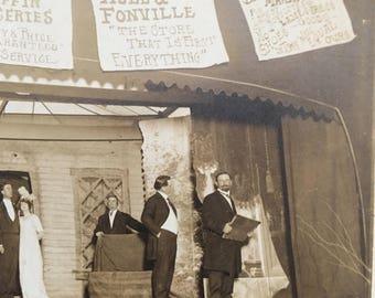 Vaudeville Stage Play Vintage Photo Boyce, Louisiana