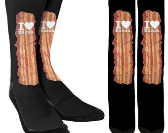 Bacon Socks - Bacon Lover Socks - Bacon Gifts - Bacon Items - Funny Bacon Socks - Mens Bacon Socks - Womens Bacon Socks - FREE Shipping B35