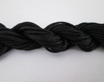 12 mètres écheveau cordon nylon 1.5 mm couleur : noir